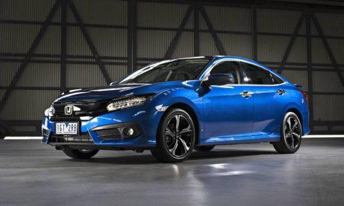 2016 Honda Civic sedan priced from AU$22,390, debuts 1.5 turbo