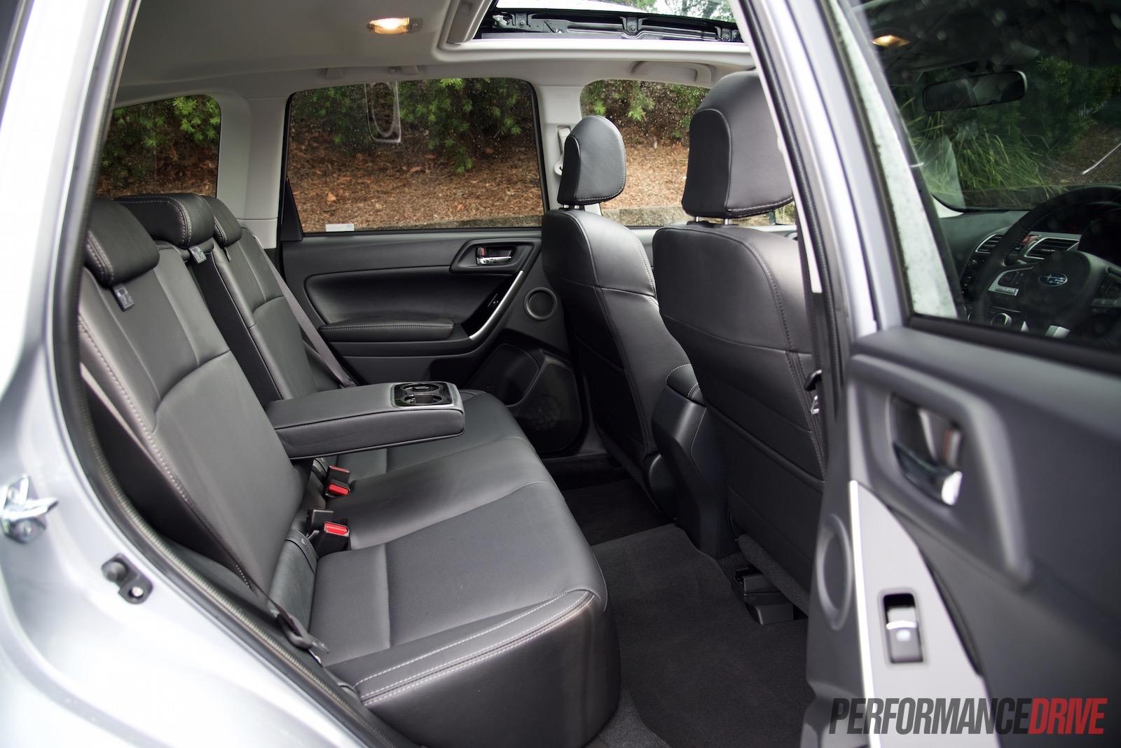 2016 Subaru Forester Xt Premium Review Video Performancedrive Fuel Filter Rear Seats