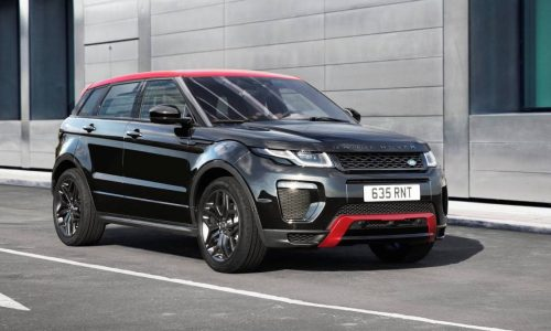 MY2017 Evoque update adds 10.2in screen, Ember special edition