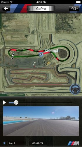 BMW M Laptimer GoPro-track