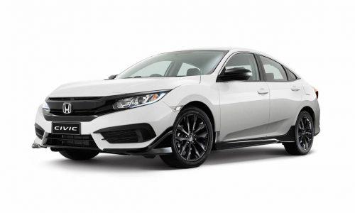 2016 Honda Civic sedan gets sporty Black Pack option in Australia