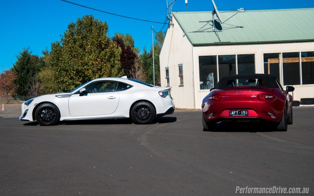 2016 Mazda MX-5 vs Toyota 86-rear