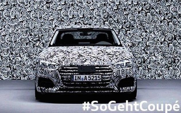 2017 Audi A5 prototype-front