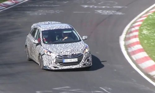 2017 Hyundai i30 N hot hatch prototype spotted again (video)