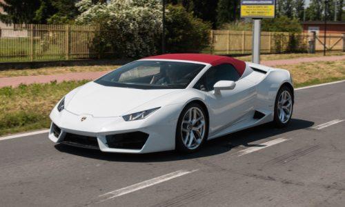Is this a Lamborghini Huracan 'LP 580-2 Spyder' prototype?