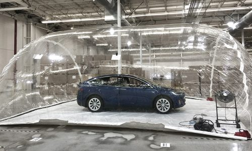 Tesla places Model X in contaminated bubble to demo Bioweapon mode