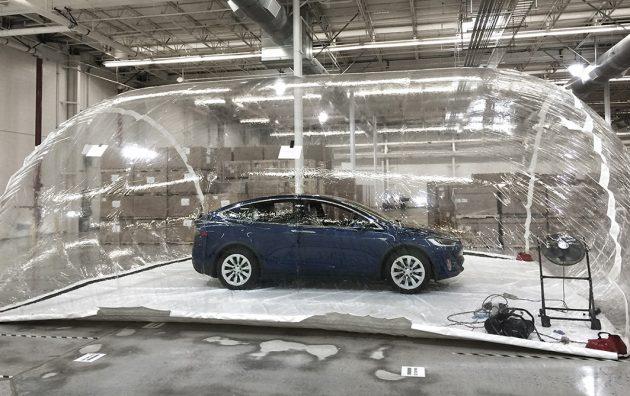 Tesla Model X Bioweapon Defense experiment