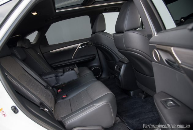 2016 Lexus RX 450h F Sport-rear seats