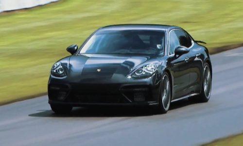 2017 Porsche Panamera Turbo previewed at Goodwood hill climb (video)