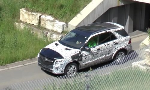 2018 Mercedes GLE 'W167' spotted, getting new MHA platform (video)