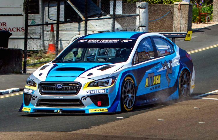 Mark Higgins Subaru WRX at Isle of Man