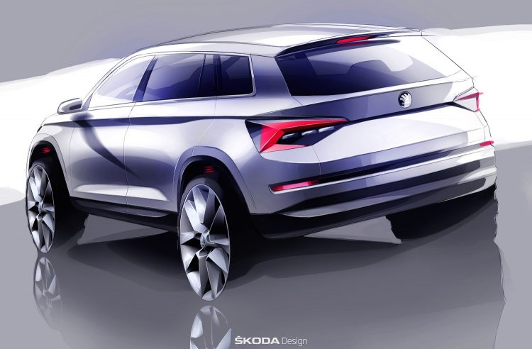 Skoda Kodiaq sketch-rear