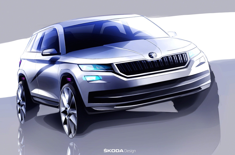 Skoda Kodiaq previewed, all-new seven-seat SUV ...