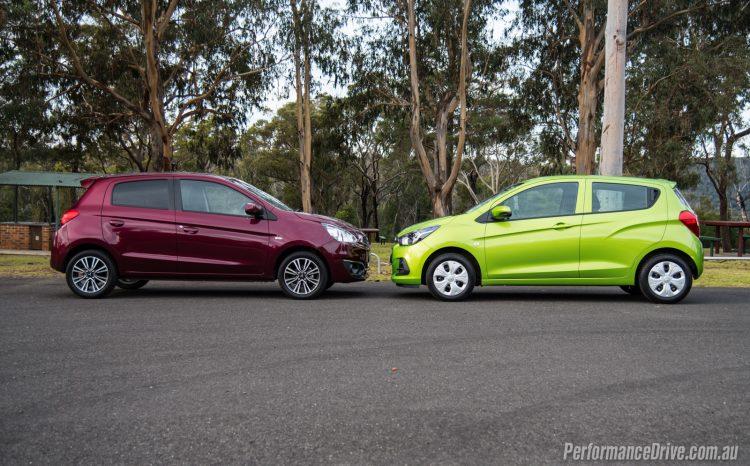 2016 Mitsubishi Mirage vs Holden Spark-2