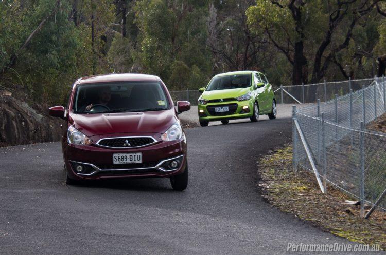 2016 Mitsubishi Mirage vs Holden Spark-4