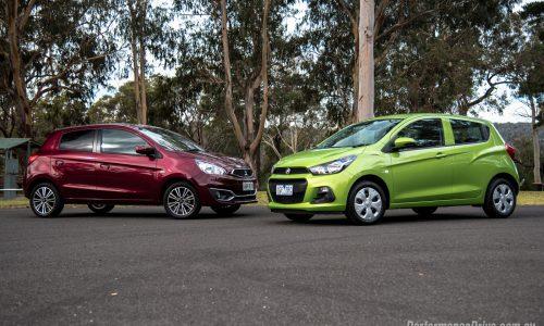 2016 Mitsubishi Mirage vs Holden Spark: City car comparison