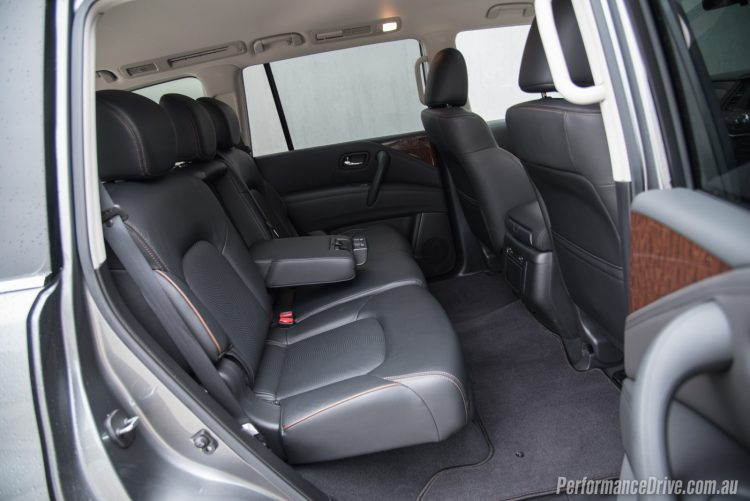 2016 Nissan Patrol Ti-rear seats