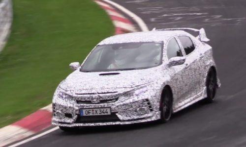 2017 Honda Civic Type R spotted at Nurburgring (video)