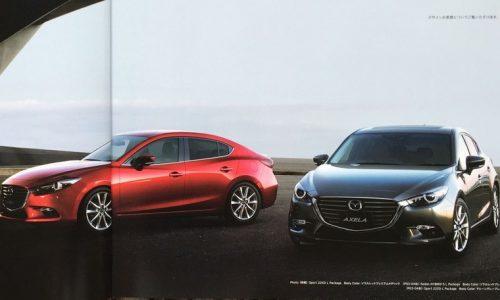 2017 Mazda3 facelift leaked via brochure