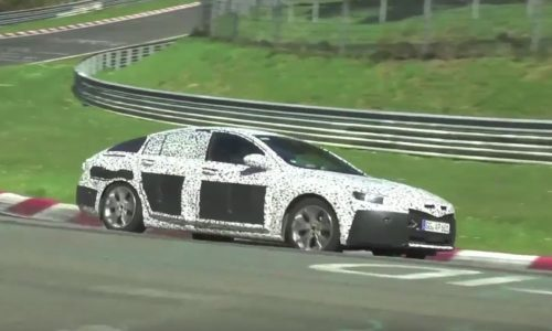 2017 Opel Insignia / 2018 Commodore spotted at Nurburgring (video)