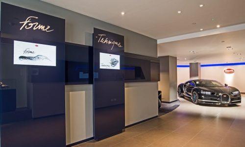 Exquisite Bugatti Chiron showroom opens in London