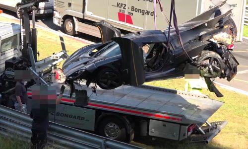 Koenigsegg One:1 crashes during Nurburgring lap record attempt