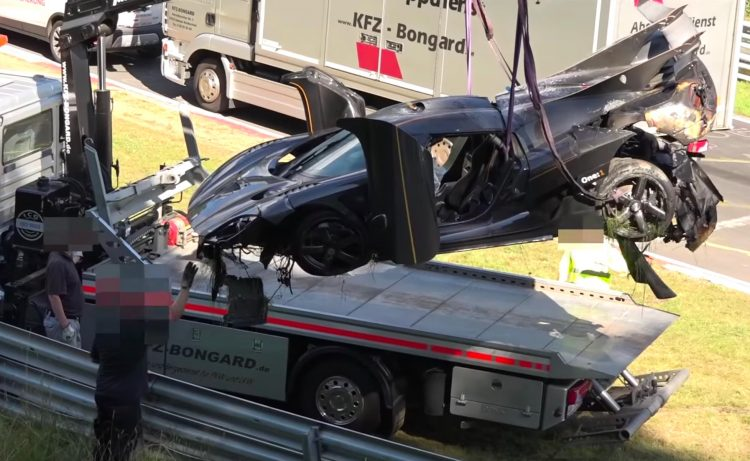 Koenigsegg One1 Nurburgring crash