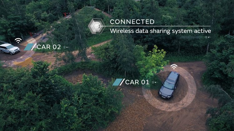 Land Rover autonomous off-road car to car
