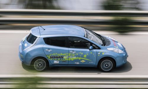 Nissan engineers create 48kWh LEAF in their spare time