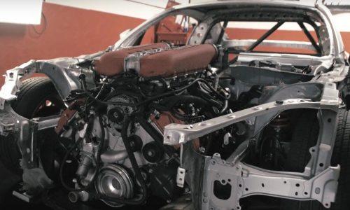 Toyota GT86 getting Ferrari F136 V8 engine conversion