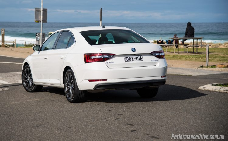 2016 Skoda Superb 162TSI-rear