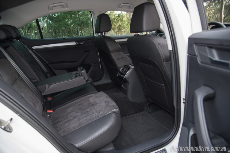 2016 Skoda Superb 162TSI-rear seats