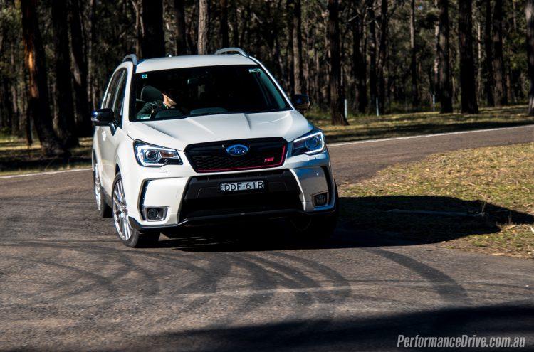 2016 Subaru Forester tS STI-cornering