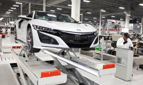 Right-hand drive Honda NSX production begins at Ohio facility