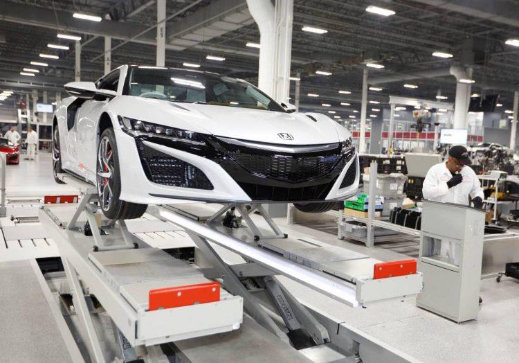 2017 Honda NSX production