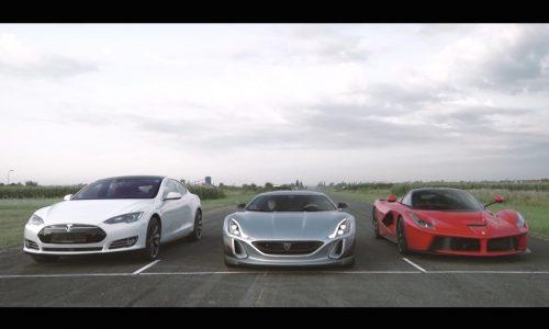 Video: Rimac One vs Tesla Model S vs LaFerrari
