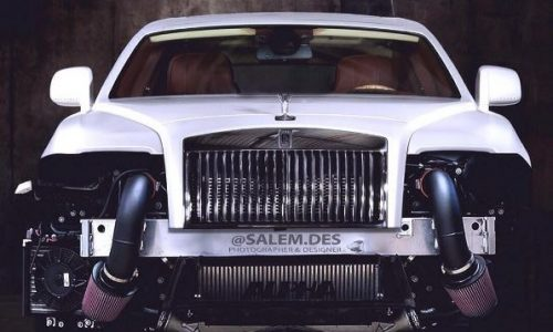 Rolls-Royce Wraith rendered with 1200hp worth of mods