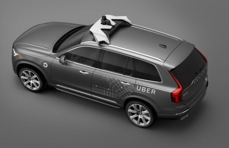 Uber Volvo XC90-roof