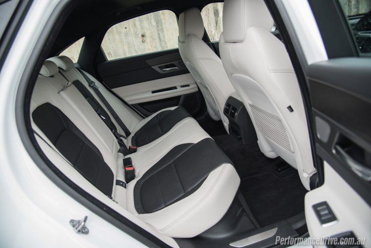 2016 Jaguar XF S 35t-rear seats