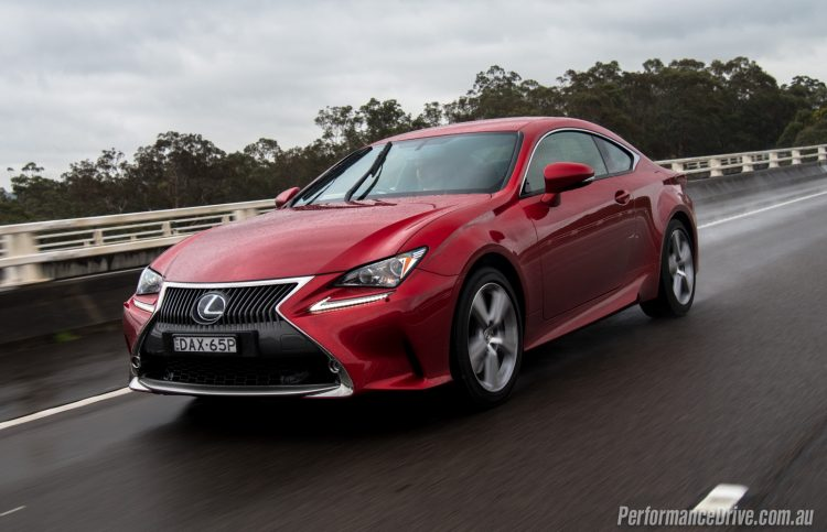 2016 Lexus RC 200t-Infrared red