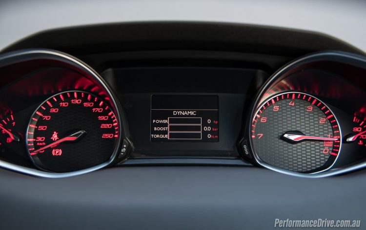 2016 Peugeot 308 GTi 270-instrument cluster