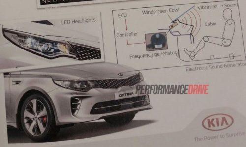 MY2017 Kia Optima getting engine sound enhancer