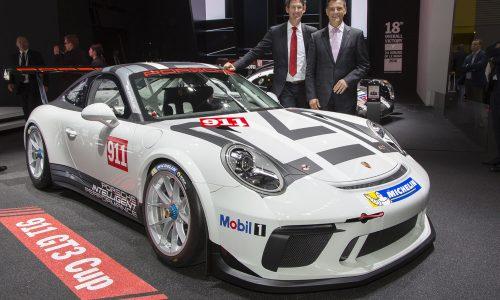 2017 Porsche 911 GT3 Cup car makes debut at Paris motor show