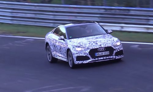 2018 Audi RS 5 spotted, switches from V8 to 2.9TT V6 (video)