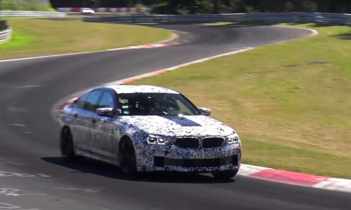 2018 BMW M5 F90 spotted again, looks powerful (video)