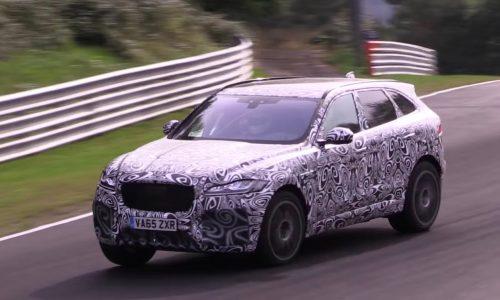 Jaguar F-PACE R / SVR V8 confirmed, prototype spotted (video)