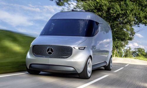 Mercedes reveals futuristic, drone-studded Vision Van concept
