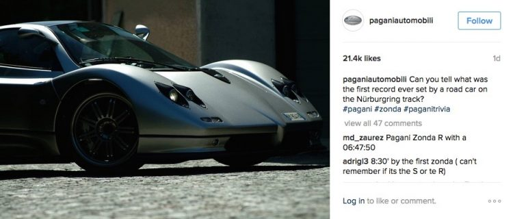 Pagani Instagram