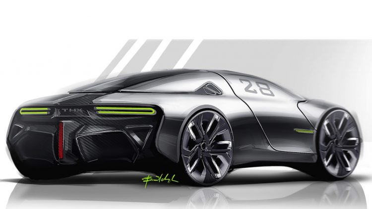 THX sports car concept-rear