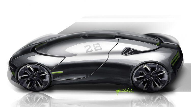 THX sports car concept-side